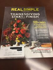 Real Simple Magazine November 2016 Thanksgiving Start to Finish DIY Centerpieces