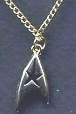 "Star Trek Command Insignia Necklace 3/4"" Gold-Lincoln Enterprises (STJW-051-N)"