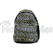 Leopard All Over Print Backpack Book Bag Pattern Animal Large School Campus Tote