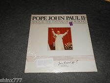 POPE JOHN PAUL II-SINGS AT THE FESTIVAL OF SACROSONG-LP-VINYL-FACTORY SEALED-NEW