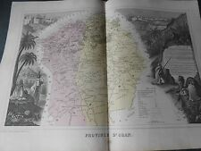 1878 BEAUTIFUL MAP OF THE ORAN PROVINCE IN ALGERIA NORTH AFRICA AUTHOR MIGEON