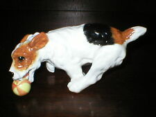 VINTAGE ROYAL DOULTON DOG FIGURINE JACK RUSSELL WITH BALL HN1097 FIGURE
