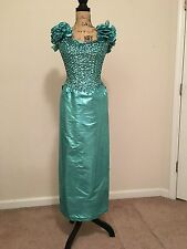MIKE BENET  VINTAGE SEQUINS TOP PROM FORMAL DRESS SIZE XS