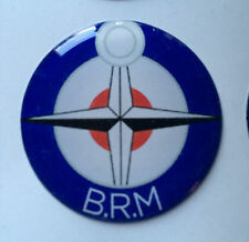 18mm BRM B.R.M RESIN DOME 3D BADGE British Racing Motors BRM