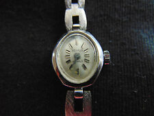 Vintage Benrus 17 Jewels ladies wind up analog silver tone wrist watch Works Gr8