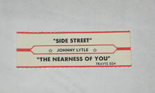 x1 Johnny Lytle Jukebox Title Strip Side Street TRAVIS #034 The Nearness of You