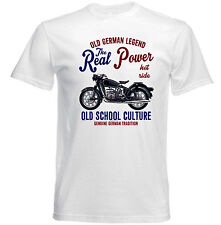 VINTAGE BMW R50 MOTORCYCLE REAL POWER - NEW COTTON T-SHIRT