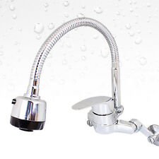 Flexible Metal Faucet Water Swtich Chrome Body Wall Mounted For Kitchen Sink NEW