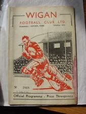 13/12/1958 Rugby League Programme: Wigan v Halifax  (stained throughout, rusty s