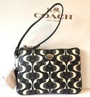COACH NWT Signature Peyton Dream C Black/White Wristlet Wallet Bag Purse F50523