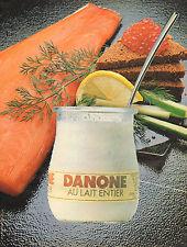 Publicité Advertising 1981  DANONE au lait entier dessert yaourt