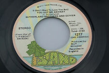 Sutherland Brothers: You Got Me Anyway / Rock and Roll Show  [Unplayed Copy]