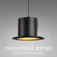 Ceiling Light Hat Shape Creative Bowler Retro Chandelier Pendant Lamp Vintage US
