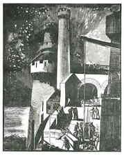 Edy LEGRAND AUF DER BURG - Original Holzschnitt 1929