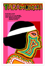 Cuban decor movie Poster 4 film Tarahumara indian runners.Psychedelic design art