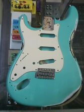2004 left hand MIM Fender Stratocaster body, seafoam green reliced