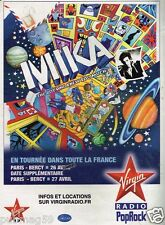 Publicité Advertising 2010 Concert Mika avec Virgin Radio