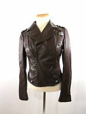RUDSAK  BROWN SOLID  LEATHER  MOTORCYCLE BOMBERS JACKET  SIZE  M. # 30135436