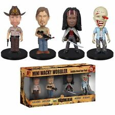 The Walking Dead Pack 4 figurines Bobble Head Wacky Wobbler - Funko