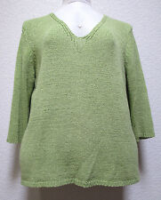 JUDITH HART WOMENS PLUS SIZE  SWEATER SIZE 3X LIME GREEN