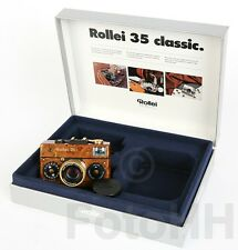 """ROLLEI 35 """"WOOD"""" IN GOLD WITH SERIALNUMBER PROTOTYP"""