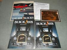 1978 BUICK 3 DIFFERENT ORIGINAL SALES CATALOGS + 75 YEARS HISTORICAL BROCHURE