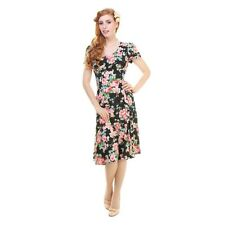 BNWT  Vintage 40's Collectif Nadine Floral Rose Print Floral Tea Dress Size 18