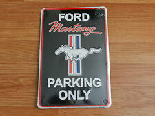 "Ford Mustang Parking Only   8"" x 12""  Metal Novelty Sign"