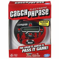 Scrabble Electronic Catch Phrase Game Handheld Party Team Family Fun Toy ANew