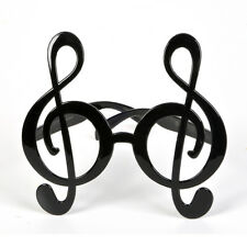 """5.5"""" TREBLE CLEF GLASSES - MUSIC THEMED PARTY FUNNY FANCY DRESS ACCESSORY: BLACK"""