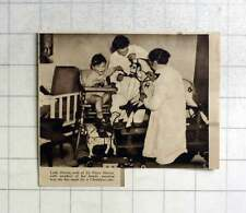 1936 Lady Harris With Family Painting Toys She Made For Christmas Sale