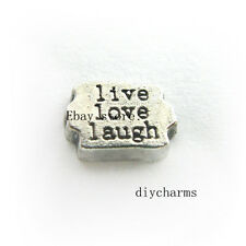 10pcs Live Love Laugh Floating Charms Fit Memory Living Glass Locket FC1368
