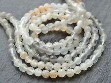 """*CLEARANCE*  2 STRINGS x 4mm MULTI MOONSTONE, 14"""" strand, 90 beads"""