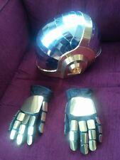 Daft Punk (Tron) Helmet Mirror Chromed pre cut card Cosplay or prop
