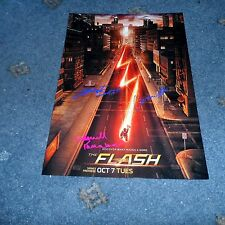"THE FLASH CAST X3 PP SIGNED 12""X8"" A4 PHOTO POSTER GRANT GUSTIN CANDICE PATTON"