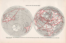 1947 DOUBLE-SIDED PRINT ~ AIRWAYS POST-WAR WORLD ~ AIRWAYS EUROPE AIR ROUTES