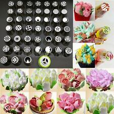 45Pcs Russian Tulip Flower Cake Icing Piping Nozzles Decorating Tips Baking Tool