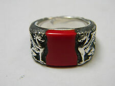 David Yurman Griffin Signet Ring with Red Jasper for men