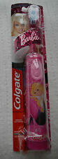 Childrens Extra Soft Barbie Electric Toothbrush tooth brush battery pink girls