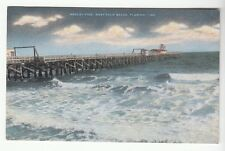 [50645] OLD POSTCARD HEDLEY PIER IN WEST PALM BEACH, FLORIDA
