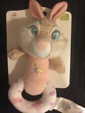 New Disney Store Bambi Miss Bunny Plush Rattle Toy Thumper Friend Baby