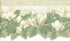 LILIES BLOSSOMING IN THE OPEN WITH VINES DIE CUT Wallpaper bordeR Wall decor
