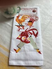 Retro Vintage Style Cotton Flour Sack 50's Kitchen Towels with 'Chef Betty'
