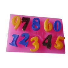 HOT Sale Numbers Silicone Mould Cake Cookies Decorating Mat Chocolate Baking NEW