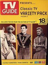 TV GUIDE PRESENTS CLASSIC TV VARIETY VOL 1 (DVD, 3 Disc Set DIGITAL REMASTER)