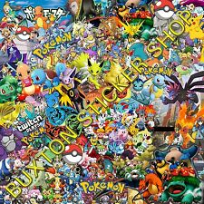Pokemon Go  Stickers Bomb sheet Euro  Vinyl Decal vw vauxhall honda Dub wrap