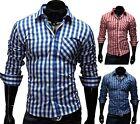 Merish Herren Hemd Slim Fit verschiedene Farben S-XXL WOW Style Neu Modell 44