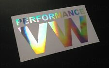 150mm (15cm) Performance VW Hologram Chrome Sticker CAR DUB VW SCENE EURO VAG