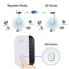 300Mbps 802.11 Wifi Repeater Wireless AP Signal Spread Booster EU/UK/US Plug DMS