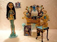 Monster High Dead Tired lot Cleo De Nile100% Complete w/Vanity set w/accessories